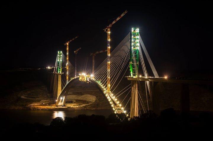 Viaducto sobre el Río Almonte en el Embalse de Alcántara